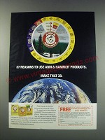 1991 Arm & Hammer Baking Soda Ad - 37 reasons to use Arm & Hammer products.