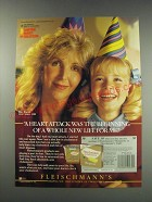1991 Fleischmann's Margarine Ad - A heart attack was the beginning