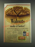 1991 Diamond Walnuts and Karo Syrup Ad - Classic Walnut Pie recipe
