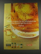 1991 Lipton Tea Ad - There's a name for decaffeinated tea that doesn't get lost