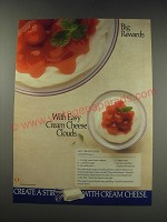 1991 National Dairy Board Ad - recipe for Easy Cream Cheese Clouds