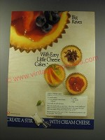 1991 National Dairy Board Ad - recipe for Mini-Cheesecakes
