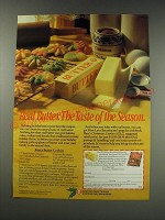 1991 National Dairy Board Ad - recipe for Rose's Butter Cookies