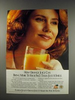 1991 State of Florida Department of Citrus Ad - How orange juice can bring more