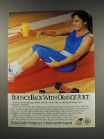 1991 State of Florida Department of Citrus Ad - Bounce back with Orange Juice