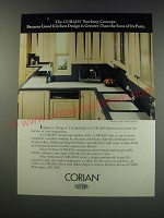 1991 Du Pont Corian Worktop Ad - Greater Than the Sum of Its Parts