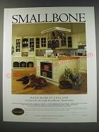 1991 Smallbone Cabinets Ad - Smallbone Hand made in England