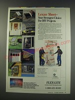 1991 GE Plastics Lexan Sheet Ad - your strongest choice for DIY Projects