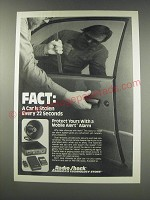 1991 Radio Shack Mobile Alert Alarm Ad - Fact: A car is stolen every 22 seconds