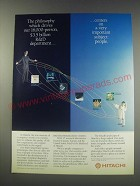 1991 Hitachi R&D Ad - The philosophy which drives our 16,000-person