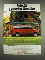 1991 Chevy Astro AWD Extended-Body Van Ad - Take an Extended vacation