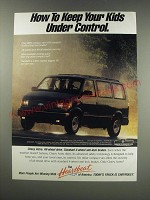1991 Chevy Astro Van Ad - How to keep your kids under control