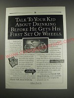 1991 Anheuser-Busch Inc. Ad - Talk to your kid about drinking before