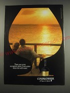 1991 Courvoisier Cognac Ad - There are some occasions when Courvoisier does mix