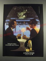 1991 Courvoisier Cognac Ad - During the holidays, some people enjoy it over ice