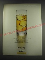 1991 Cutty Sark Scotch Ad - This is a glass of Cutty Sark