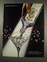 1991 Bombay Sapphire Gin Ad - Pour something priceless for the holidays