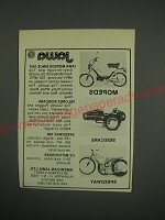 1990 Jawa Mopeds, Sidecars and Speedway  Ad - Rare Misprint