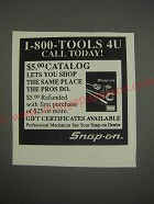 1990 Snap-On Tools Ad - 1-800-Tools 4U call today!