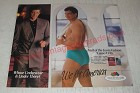 1990 Fruit of the Loom Fashion Underwear Ad - Whose underwear is under there?
