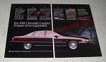 1991 Chevrolet Caprice Ad - The 1991 Chevrolet Caprice. Prepare to be impressed