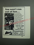 1989 Housatonic Valley, Connecticut Ad - You won't run out of fun