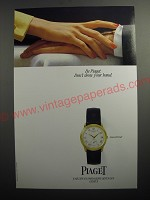 1991 Piaget Gouverneur Watch Ad - Be Piaget. Don't show your hand