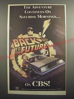 1991 CBS Back to the Future Cartoon Ad - The adventure continues on Saturday