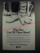 1991 PBS Public Television Ad - Who else can fill these shoes!