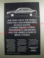 1991 Volvo 960 Car Ad - The only car in the world that has a 204 horsepower