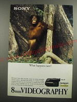 1991 Sony Handycam Traveller Video Camcorder Ad