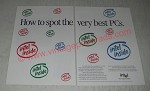 1991 Intel Microprocessors Ad - How to spot the very best PCs