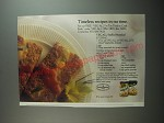 1991 Veg-All Ad - Stuffed Meatloaf recipe - Timeless recipes in no time