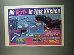 1991 Drag Specialties Ad - No rats in this kitchen