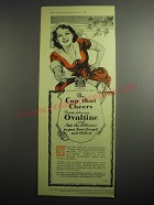 1948 Ovaltine Drink Ad - The cup that cheers drink delicious Ovaltine
