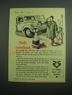 1948 Ministry of Transport Ad - Safe Conduct
