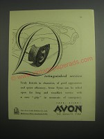 1948 Avon Tyres Ad - Distinguished service