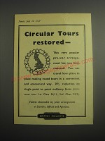 1948 British Railways Ad - Circular tours restored