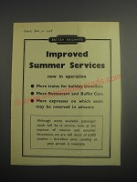 1948 British Railways Ad - Improved summer services