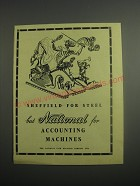 1948 NCR National Accounting Machines Ad - Sheffield for Steel