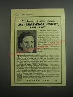 1948 Hoover Vacuum Cleaner Ad - Grosvenor House, Park Lane