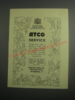 1948 Atco Mowers Ad - Atco Service through your Atco is already at work