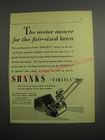 1948 Shanks Firefly Mower Ad - The motor mower for the fair-sized lawn