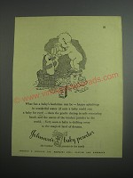 1948 Johnson's Baby Powder Ad - What fun a baby's bathtime can be