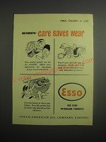 1948 Esso Petroleum Products Ad - Motorists - care saves wear