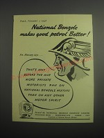 1948 National Benzole Mixture Ad - National Benzole makes good petrol Better!