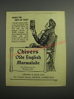 1948 Chivers Olde English Marmalade Ad - Makes the most of toast