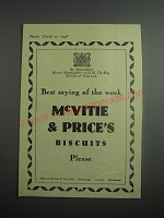 1948 McVitie & Price Biscuits Ad - Best saying of the week