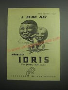 1948 Idris Squashes Soft Drink Ad - A sure hit