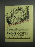 1948 Lyons Coffee Ad - Discriminating people prefer the subtle fragrance